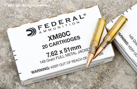 Federal Ammunition .308 (7.62x51) XM80C 149grn FMJ 20rd box
