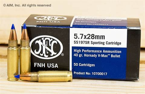 FNH USA 5.7x28mm SS197SR 40grn V-Max 50rd Box