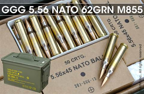 GGG NATO 5.56x45 (.223) GP21 62grn M855/SS109 1,000rd can