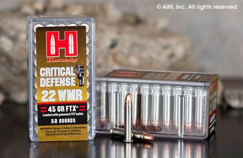Hornady Critical Defense .22 WMR (83200) 45grn FTX 50rd box