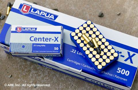 Lapua .22LR 40grn Match Grade Center-X 50rd Box