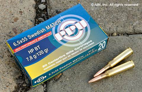 Prvi 6.5x55 Swede Match Hollow Point 120grn 20rd Box