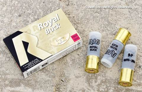 "RIO Royal 12GA OO BK Fiber Wad 2 3/4"" Shotgun Ammunition 5rd box"
