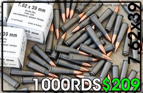 RUSSIAN 7.62X39 124grn FMJ 20rd Box