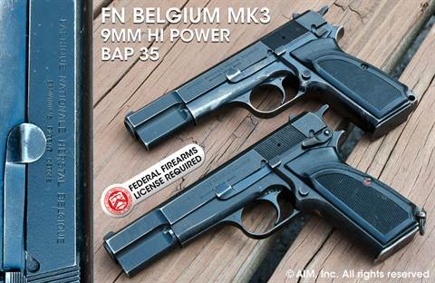FN Belgium Hi Power 9mm Pistol