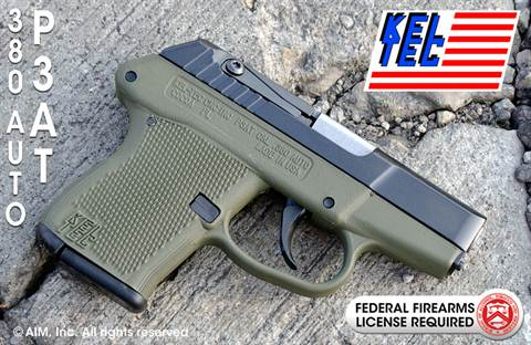 "KEL-TEC P-3AT .380acp 2.7"" OD Green"