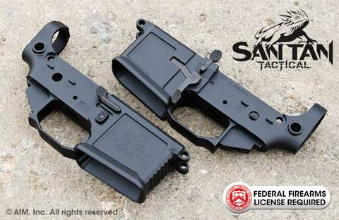 SANTAN TACTICAL STT-15 AMBI Multi. Cal. Billet AR Lower Receiver