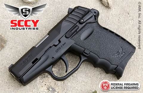 SCCY Industries CPX1 Gen 2 9mm Handgun