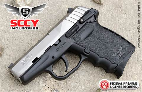 SCCY Industries CPX1 Gen 2 Two-Tone 9mm Handgun