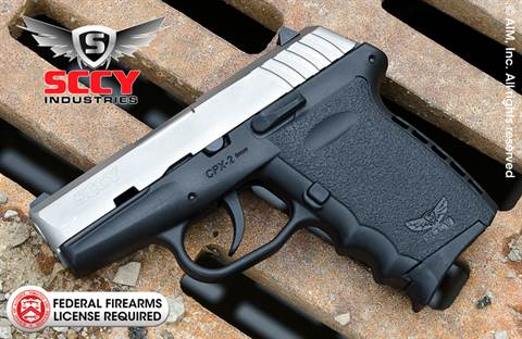 SCCY Industries CPX2 Gen 2 Two-Tone 9mm Handgun
