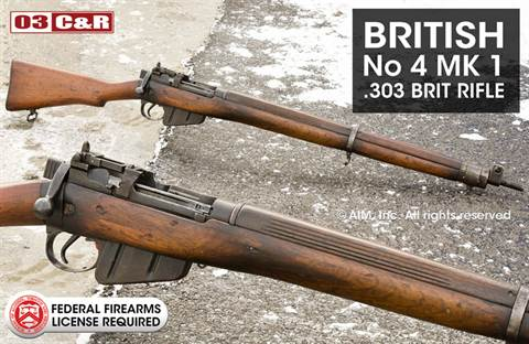 British WWII Enfield No 4 Mk 1 Rifle 303cal