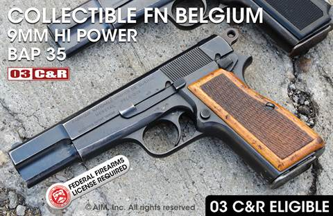 Fabrique Nationale Belgium Pre-63 Hi Power 9mm Pistol