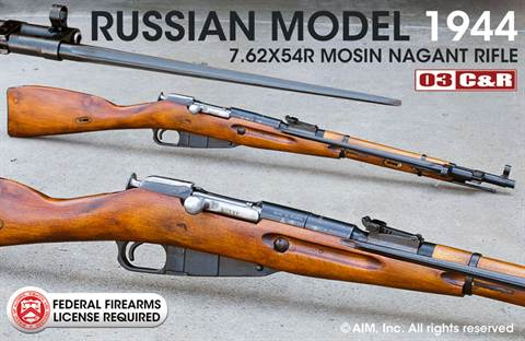 Russian Mosin Nagant Model 1944 7.62x54R Carbine