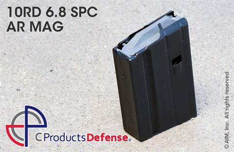 C Products Defense 10rd 6.8 SPC SS AR Magazine