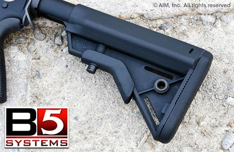 B5 Systems BRAVO SOPMOD Collapsible Rifle Stock BLACK