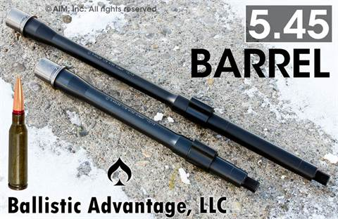 "Ballistic Advantage 5.45 10.5"" NFA/Pistol Barrel w/ Nitride Gas Block."