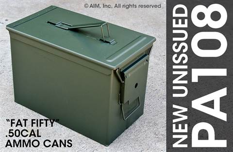 New Mil. Spec. PA108 FAT .50cal Ammo Can