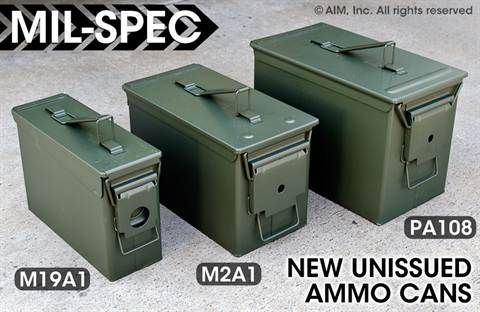 NEW UNISSUED MIL-SPEC AMMO CANS