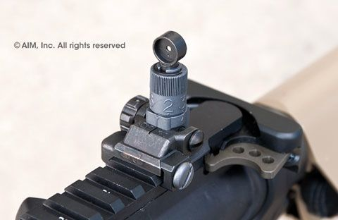 Knight's Armament Micro Flip-Up Rear Sight 200-600m
