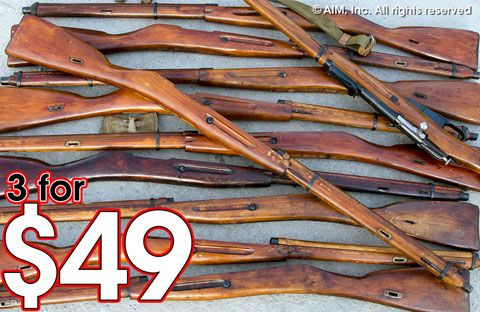 Russian Model 1891/30 Mosin Nagant Wood Stock Set