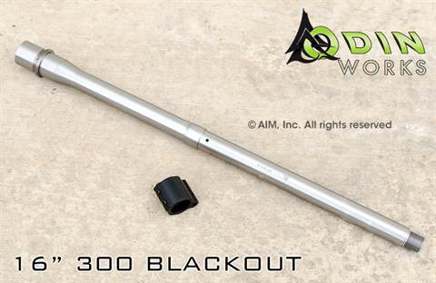 "ODIN Works 16"" 300 BLACKOUT Stainless Steel Barrel"