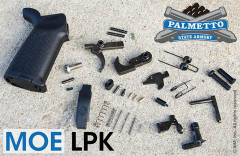 PSA P-Tac AR Lower Parts Kit w/ MAGPUL Grip & Trigger Guard