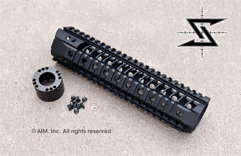 "Seekins Precision BAR Quad Rail 10"" Hanguard"
