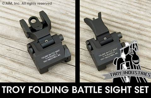 Troy Industries Folding Battle Sight Combo Standard M4  REAR