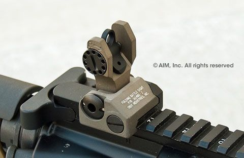 Troy Ind. Rear Folding Battle Sight Tan