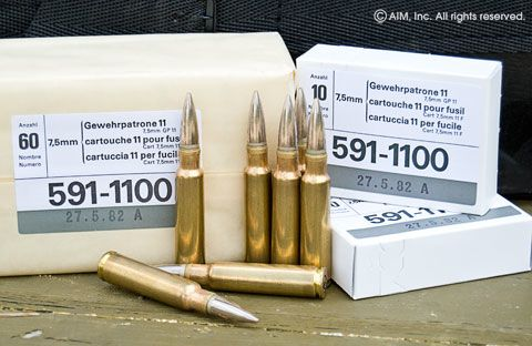 Swiss 7.5x55 GP11 174grn FMJ 10rd box