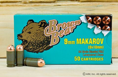 Brown Bear 9x18 94grn FMJ 50rd Box