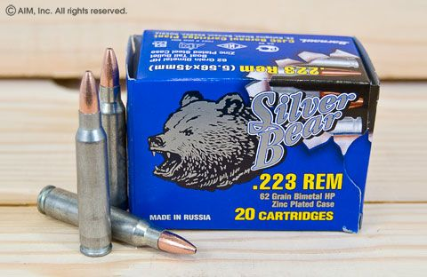 Silver Bear .223 62grn HP 20rd Box