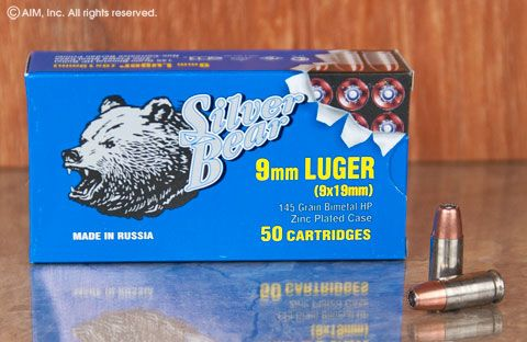 Silver Bear 9mm 145grn HP 50rd Box