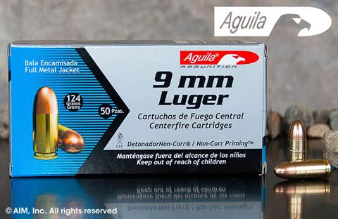 Aguila 9mm 124grn FMJ 50rd box