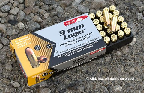 Aguila 9mm 117grn HP 50rd Box