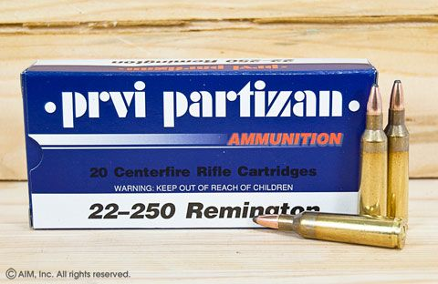 Prvi .22-250 Remington 55grn Soft Point 20rd Box