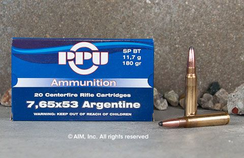 Prvi 7.65 Argentine 180grn Soft Point 20rd box