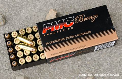 PMC 9mm 115grn JHP (9B) ammunition 50rd box