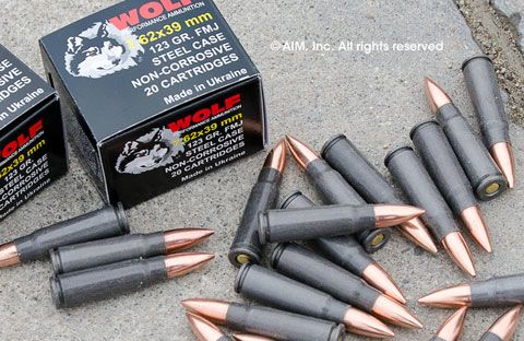 Wolf 7.62x39  (White Case) 123grn FMJ 20rd Box