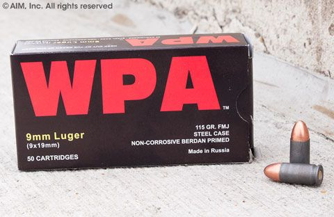 WPA (Wolf) 9mm 115grn FMJ 50rd Box