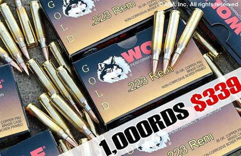 WOLF GOLD .223 55grn FMJ 20rd box