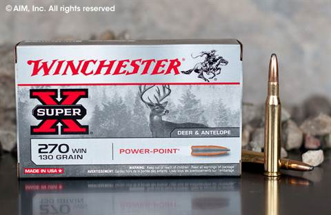 Winchester Power Point .270 Winchester 130grn SP (X2705) 20rd box