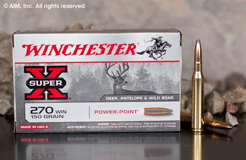 Winchester Power Point .270 Winchester 150grn SP (X2704) 20rd box
