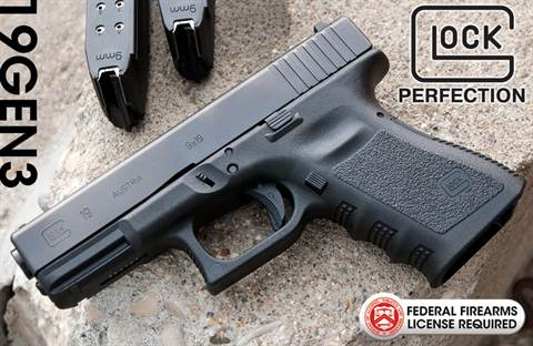 New Glock 19 9mm Handgun Gen 3