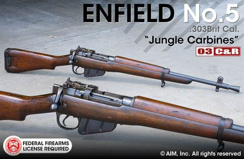 Enfield No. 5 MK 1 .303 Brit Jungle Carbine