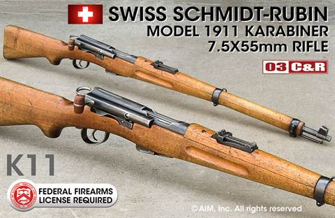 Swiss Model 1911 7.5 Swiss K11 Carbine