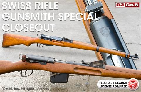 GUNSMITH SPECIAL Swiss Rifles
