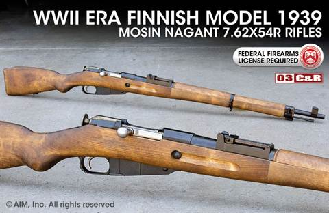 Finnish WWII Model 1939 7.62x54R Mosin Nagant