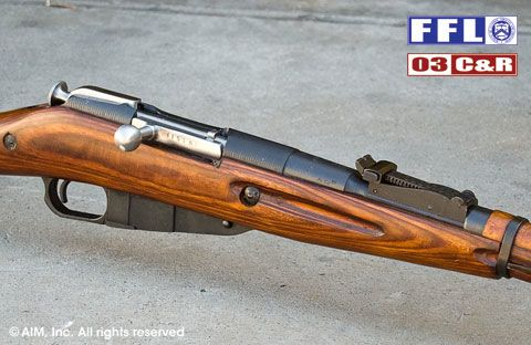 Russian Mosin Nagant 91/30 7.62x54R Rifle w/ Laminated Stock