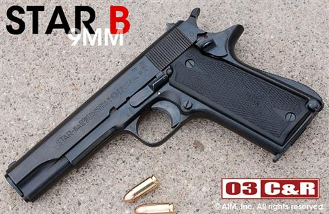 WWII Star Model B 9mm Pistol